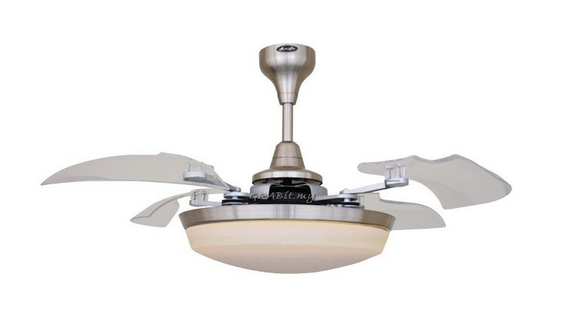 "Alpha Sunflower 46"" retractable ceiling fan"